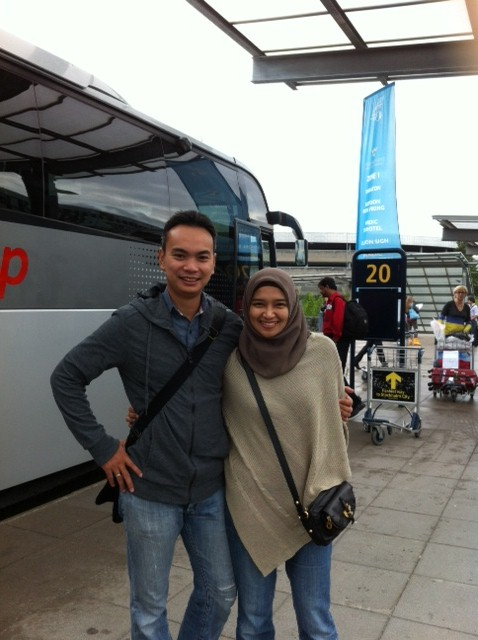 Mendarat di Stockholm airport depan bisa jemputan