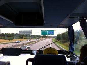 Dalam bis menuju ke hotel