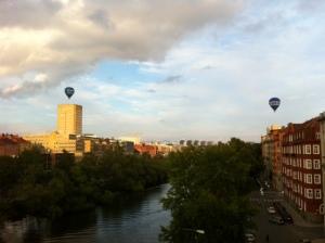 balon udara diatas langit stockholm