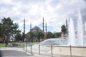 Blue Mosque dari taman