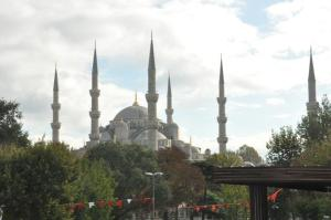 Blue Mosque dari kejauhan