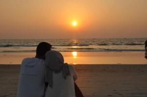 Sunset di pantai Goa