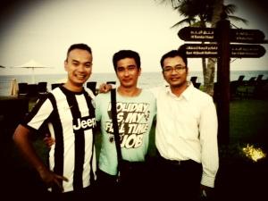 Me, Andy dan Nuki (PL Reunion in Muscat, Oman)