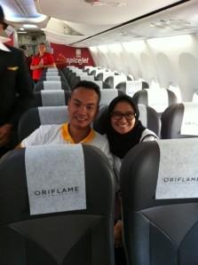 Di dalam pesawat chartered