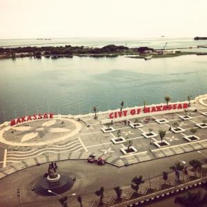 Pemandangan dari Hotel Aryaduta - Makassar