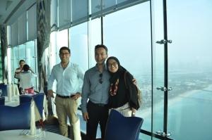 Di Restoran mewah dalam Burj Al Arab (lt. 27)