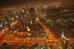 Pemandangan dari lt. 124 Burj Khalifa