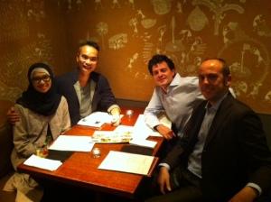 Makan malam bersama teman semasa kuliah di Italia