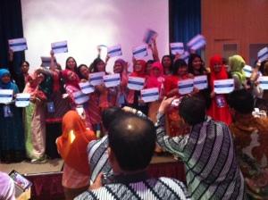 Sebagian peserta dari Indonesia yang mendapatkan penghargaan, total sekitar 300 peserta dari Indonesia